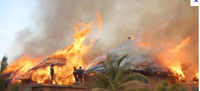Keur Maba : Un incendie ravage des tonnes d'arachide et des magasins