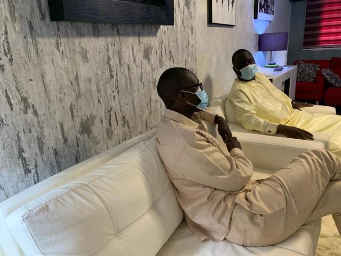 Condoléances: Le leader du Pastef Ousmane Sonko chez Dethie Fall