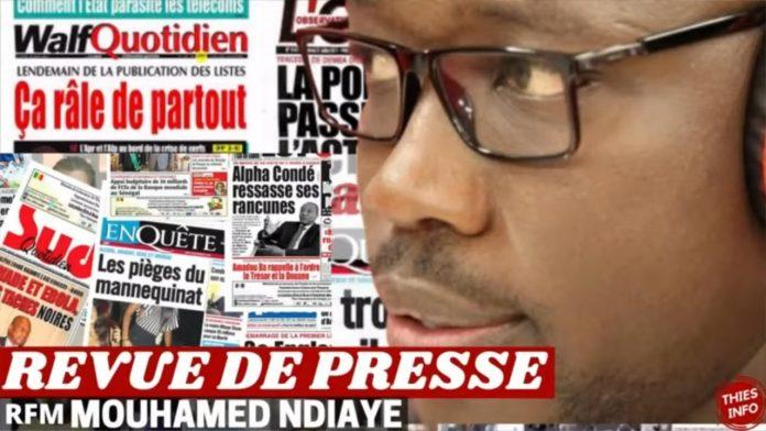Revue de presse (wolof) Rfm du Vendredi10 septembre 2021 avec Mamadou Mouhamed Ndiaye